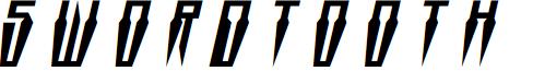 Swordtooth Title Italic