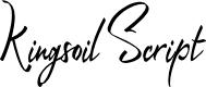 Preview image for Kingsoil Script Font