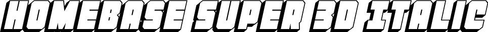 Homebase Super 3D Italic