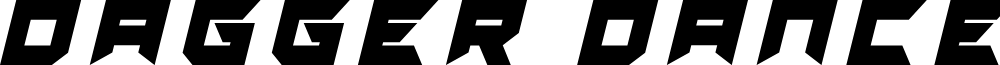Dagger Dancer Title Italic