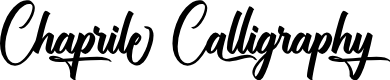 Preview image for Chaprile Calligraphy Font