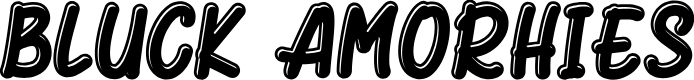 Preview image for Bluck Amorhies Font