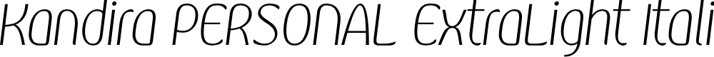 Preview image for Kandira PERSONAL ExtraLight Italic