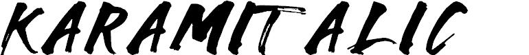 Preview image for Karam-Italic Font