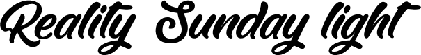 Preview image for Reality Sunday light Font