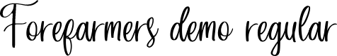 Preview image for Forefarmers DEMO Regular Font
