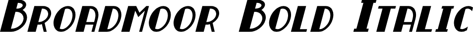 Broadmoor Bold Italic