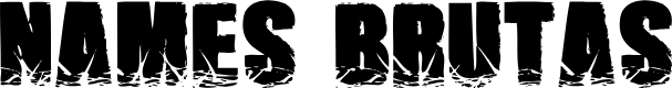 Preview image for NamesBrutas Font