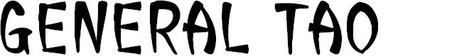 Preview image for CF General Tao Regular Font
