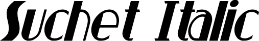 Preview image for Suchet Italic