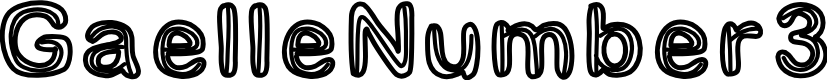 Preview image for GaelleNumber3 Font