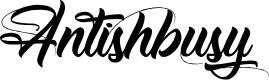 Preview image for Antishbusy Font