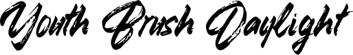 Preview image for Youth Brush Daylight Font