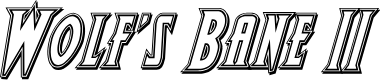 Preview image for Wolf's Bane II Engraved Italic
