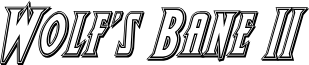 Wolf's Bane II Engraved Italic