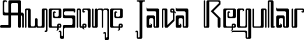 Preview image for Awesome Java Regular Font