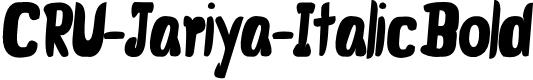 Preview image for CRU-Jariya-Italic Bold