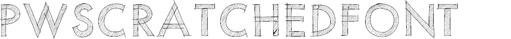 Preview image for PWScratchedfont