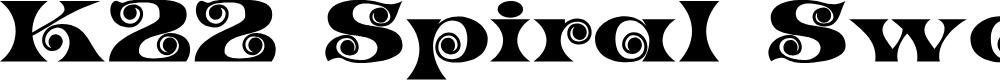 Preview image for K22 Spiral Swash Font