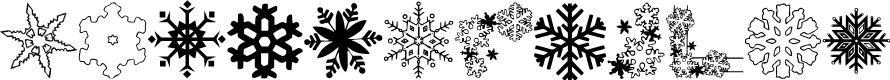 Preview image for ryp_snowflake1 Font