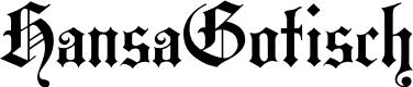 Preview image for HansaGotisch Font