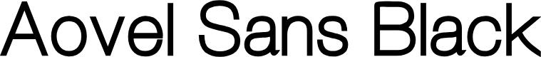 Preview image for Aovel Sans Black