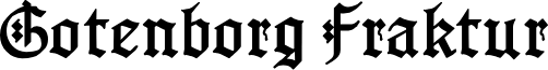 GotenborgFraktur font