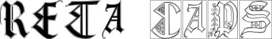 Preview image for Reta Caps Font