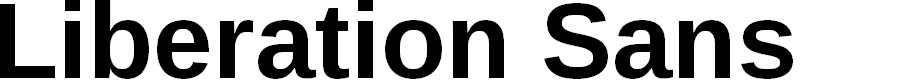 Preview image for Liberation Sans Bold