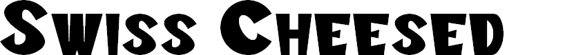 Preview image for Swiss Cheesed Font