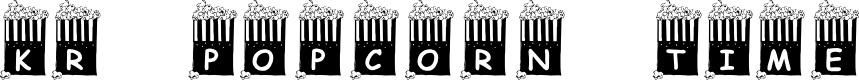 Preview image for KR Popcorn Time! Font