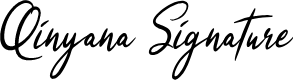 Preview image for Qinyana Signature Font