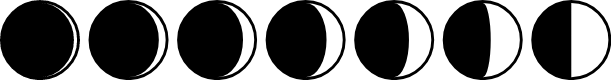 Preview image for Moon Phases Font