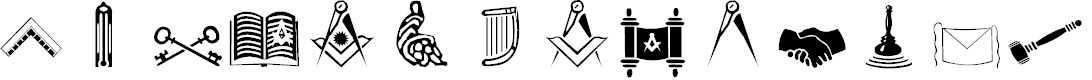 Preview image for Masonic Cipher & Symbols  Font