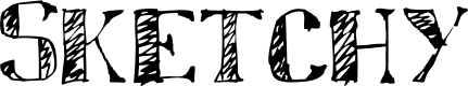 Preview image for Sketchy Font