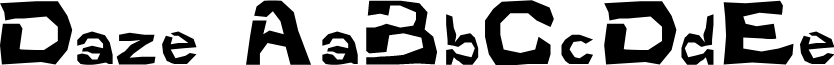 Daze font