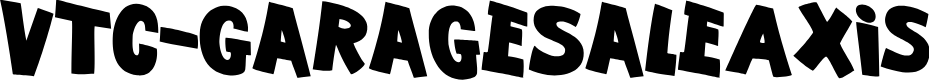 Preview image for VTC-GarageSaleAxis Font