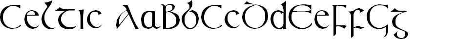 Preview image for Celtic (Plain):001.001 Font
