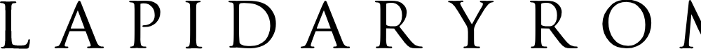 Preview image for Lapidary roman Font