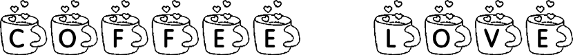 Preview image for KR Coffee Love Font