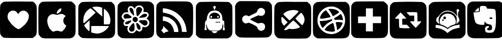 Preview image for SocialNetworkingSymbols3 Font