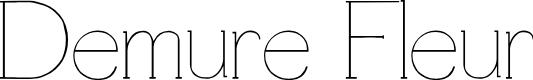 Preview image for Demure Fleur Font