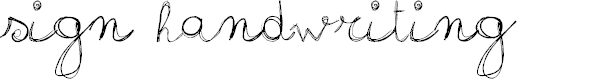 Preview image for sign-handwriting_demo-version Font