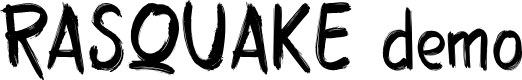 Preview image for RASQUAKE demo Font