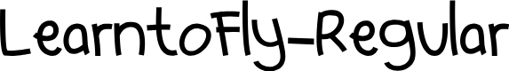Preview image for LearntoFly-Regular Font