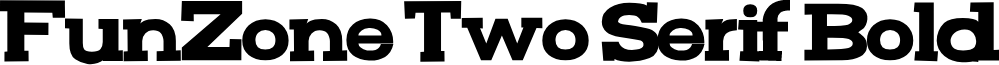 FunZone Two Serif Bold