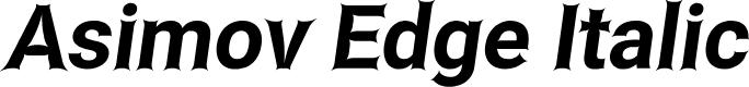 Preview image for Asimov Edge Italic