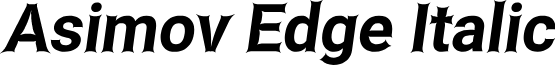 Asimov Edge Italic