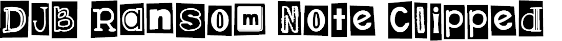 Preview image for DJB Ransom Note Clipped Font