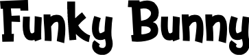 Preview image for Funky Bunny Font